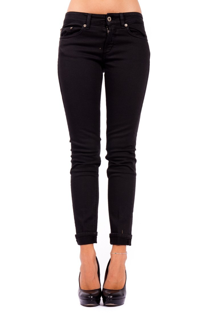 Black Monroe trousers Bull Stretch DONDUP p692 bs0009 ptd