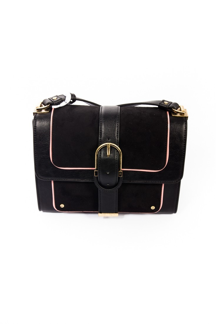 49c2d4bccf Black and pink shoulder bag ELISABETTA FRANCHI bs62a87e2