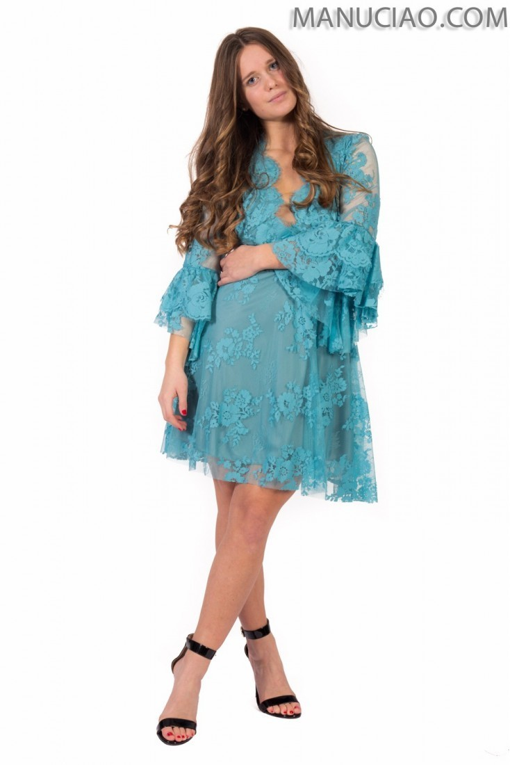 Lace dress ANIYE BY Gala p9 8 185566 light blue water