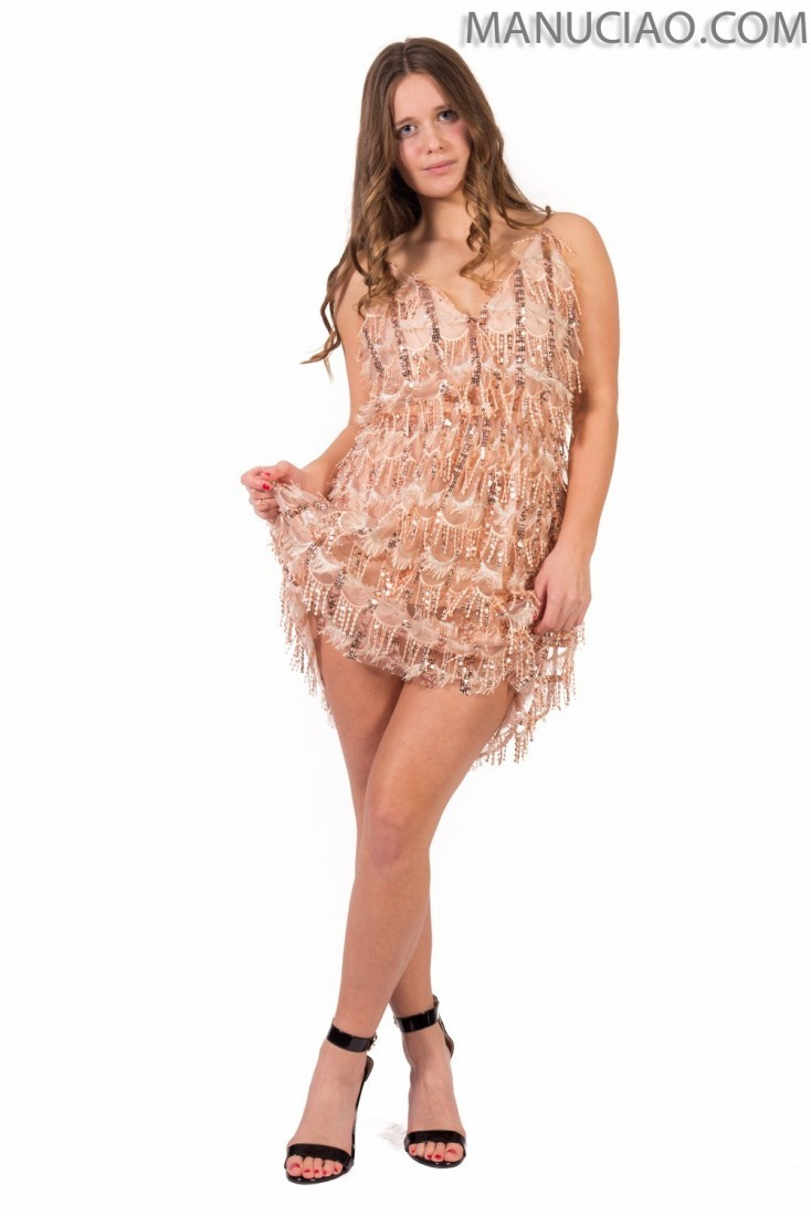Sequin dress ANIYE BY pink Pearl  p9 8 185645