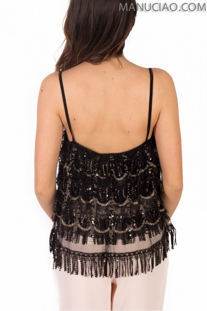 Black fringed tank top ANIYE BY Pearl  p9 8 185634