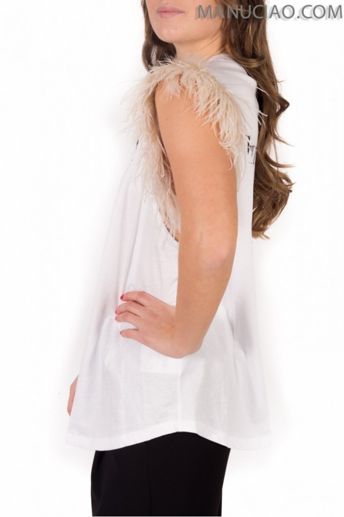 White feathers tank top ANIYE BY Sherri  p9 8 185713