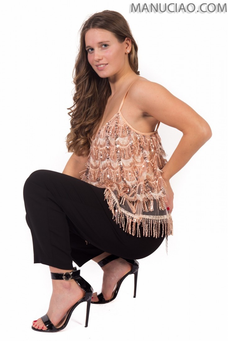 Pink fringed tank top  ANIYE BY Pearl p9 8 185634