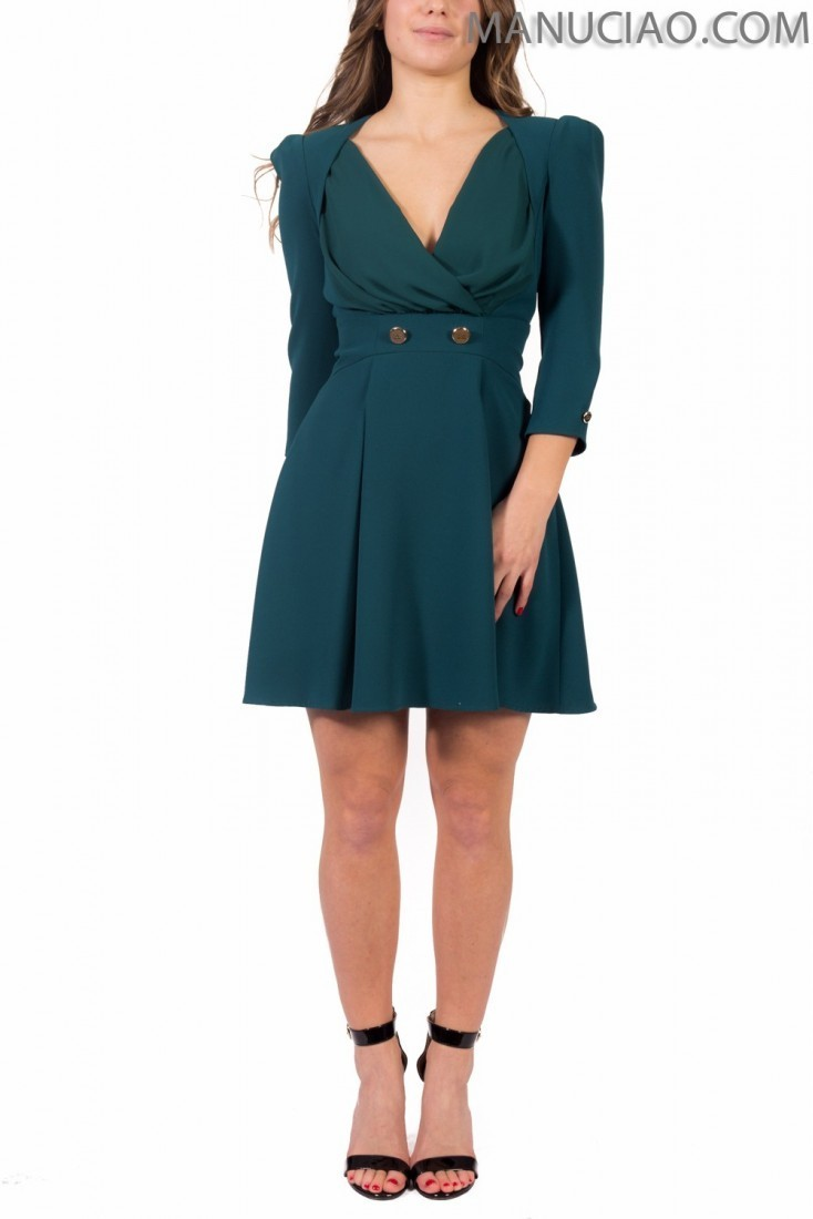 Teal dress ELISABETTA FRANCHI ab68891e2