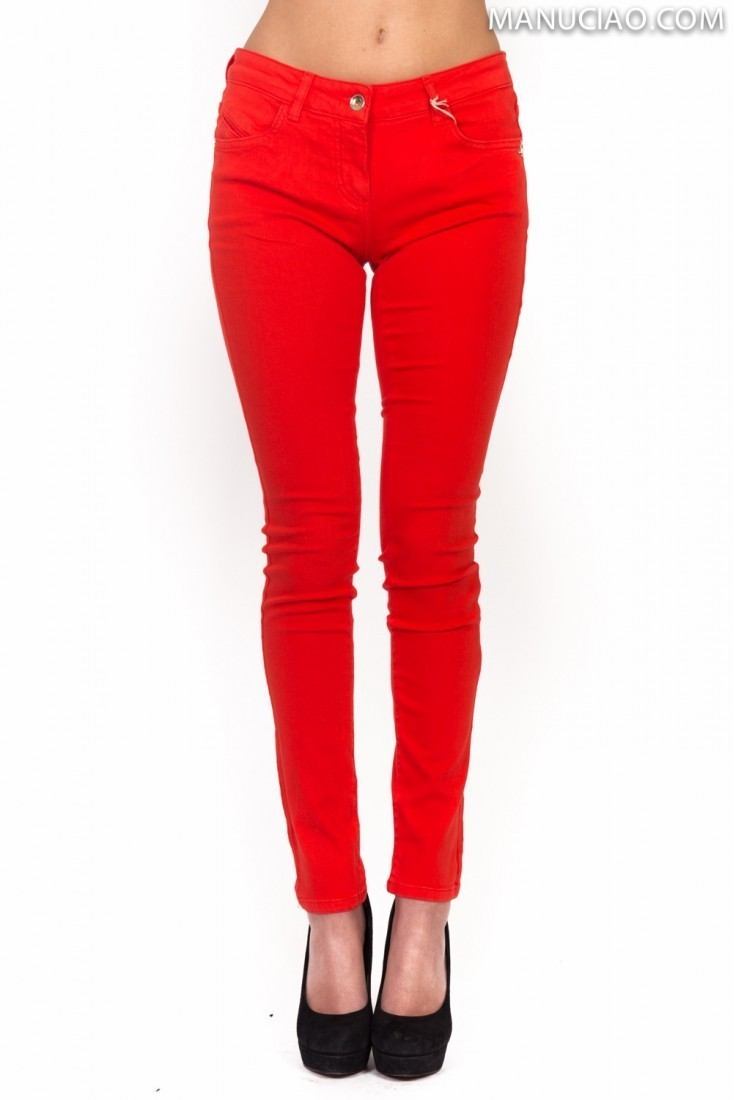 Pantalone Stretch Rosso PATRIZIA PEPE bj1186 as04