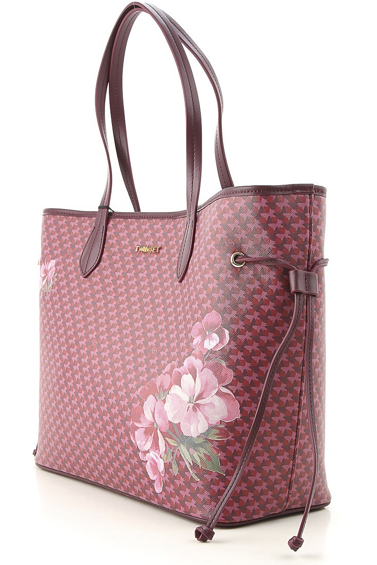 Shopping bag with clutch TWINSET 192ta7017 beet red