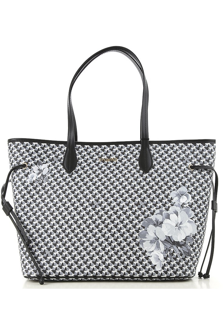 Shopping bag with clutch TWINSET 192ta7017 Black Snow