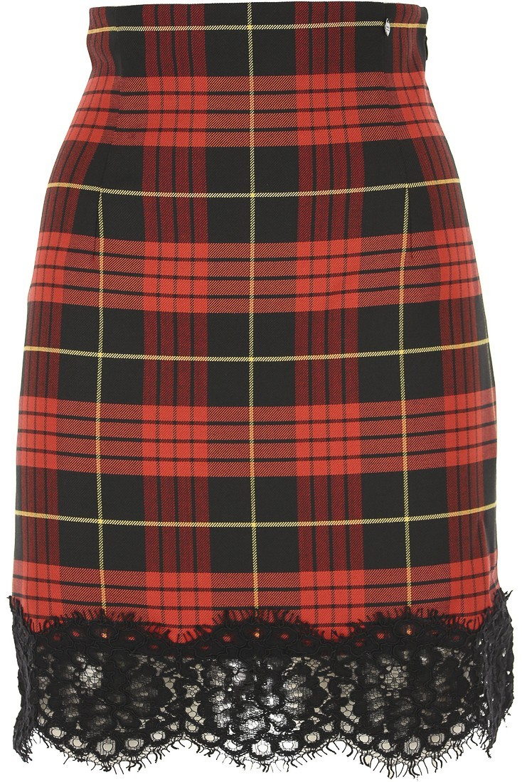 Tartan red skirt TWINSET 192tp2624_03981