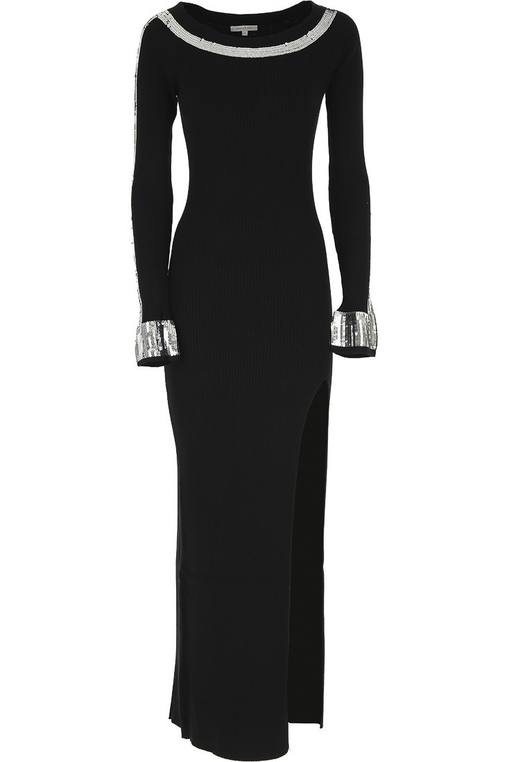 Black dress with vent PATRIZIA PEPE 8a0584 a5g7