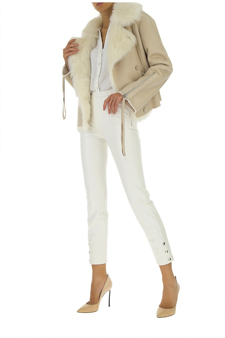 White Synthetic Leather pants PATRIZIA PEPE 2l0852 a1dz
