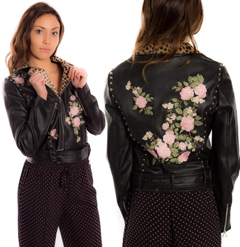 Black embroidered jacket TWINSET ps82dn